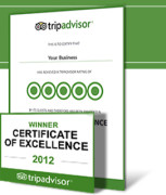 African Shark Eco-Charters Trip Advisor Certificate of excellence 2012