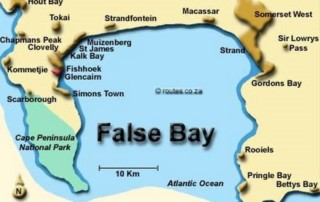 Ocean Map of False Bay