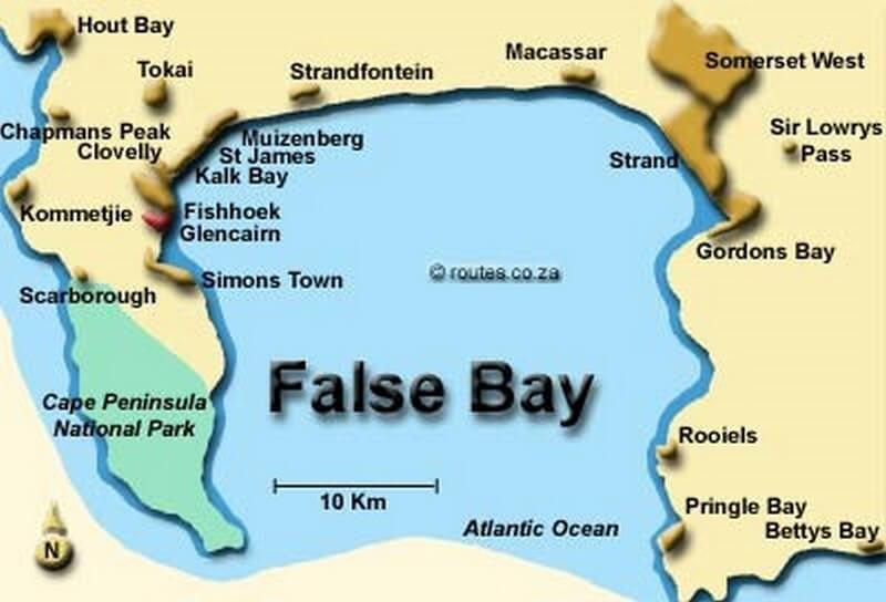 false bay map